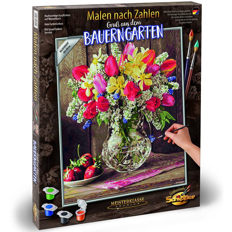 Купить Картина для раскрашивания по номерам - Цветы из домашнего сада, 40 х 50 см, Schipper