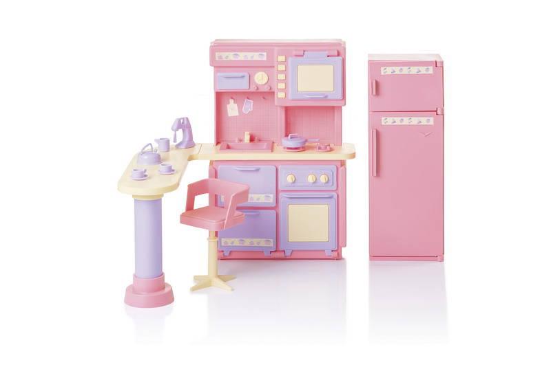Купить Игровой набор - Кухня из серии Маленькая принцесса, розовая, Огонек