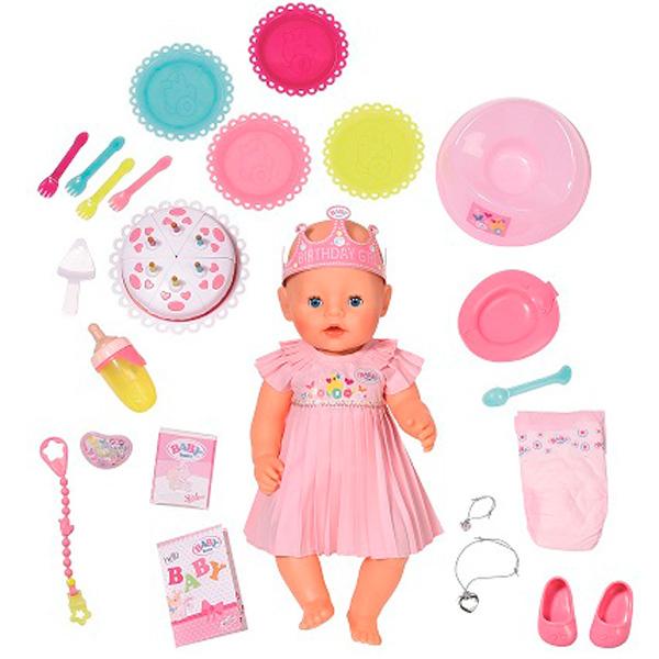 Интерактивная кукла Baby born - Нарядная с тортом, 43 смКуклы-пупсы Baby Born<br>Интерактивная кукла Baby born - Нарядная с тортом, 43 см<br>