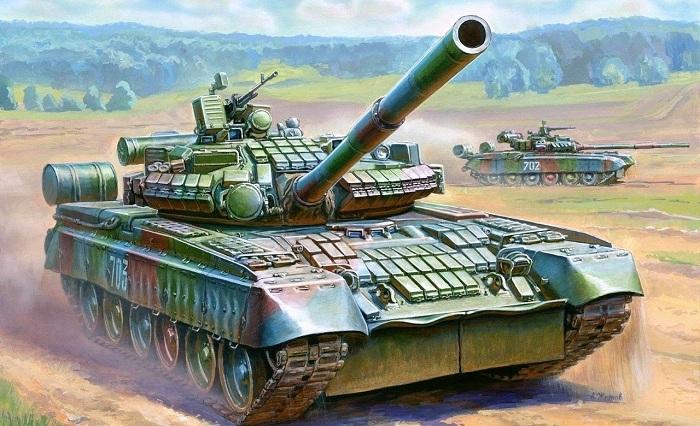 Подарочный набор - Модель для склеивания - Танк Т-80БВМодели танков для склеивания<br>Подарочный набор - Модель для склеивания - Танк Т-80БВ<br>