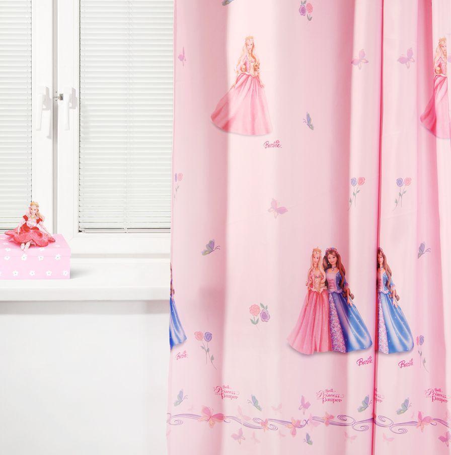 Портьера детская - Барби Исландия, розовыйДекор и хранение<br>Портьера детская - Барби Исландия, розовый<br>