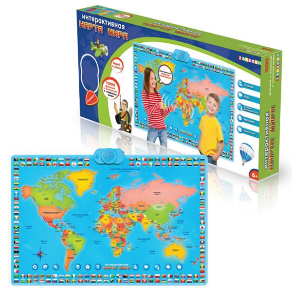 Карта мира - обучающий плакатГоворящие плакаты<br>Карта мира - обучающий плакат<br>