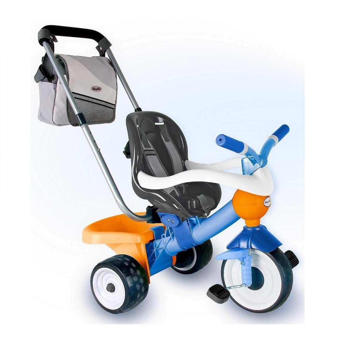 Детский трехколесный велосипед Coloma Comfort Angel Blue/orange Aluminium, 3471RTВелосипеды детские<br>Детский трехколесный велосипед Coloma Comfort Angel Blue/orange Aluminium, 3471RT<br>