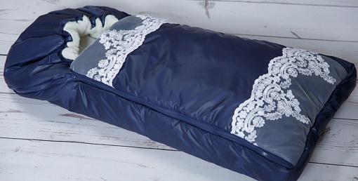 Конверт-одеяло на выписку М-2053, синий - Конверты, комплекты на выписку, артикул: 171213