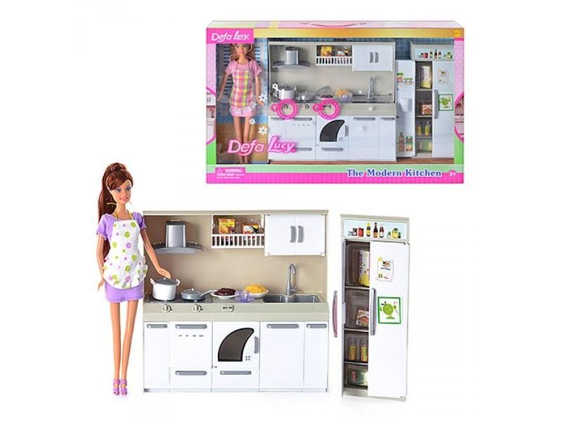 Набор Defa - Современная кухня в комплекте с куклой, 2 видаКуклы Defa Lucy<br>Набор Defa - Современная кухня в комплекте с куклой, 2 вида<br>