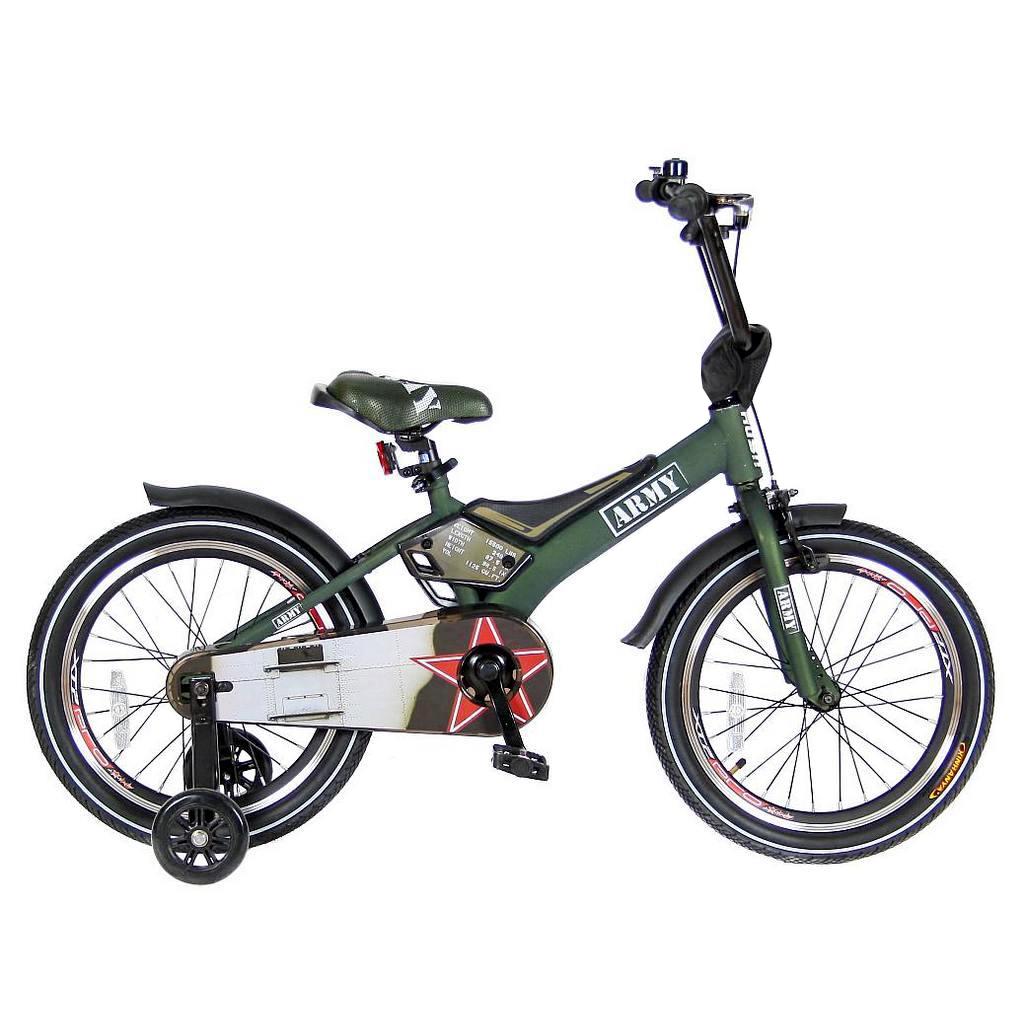 Двухколесный велосипед Rush Army, диаметр колес 18 дюймов, хакиВелосипеды детские<br>Двухколесный велосипед Rush Army, диаметр колес 18 дюймов, хаки<br>