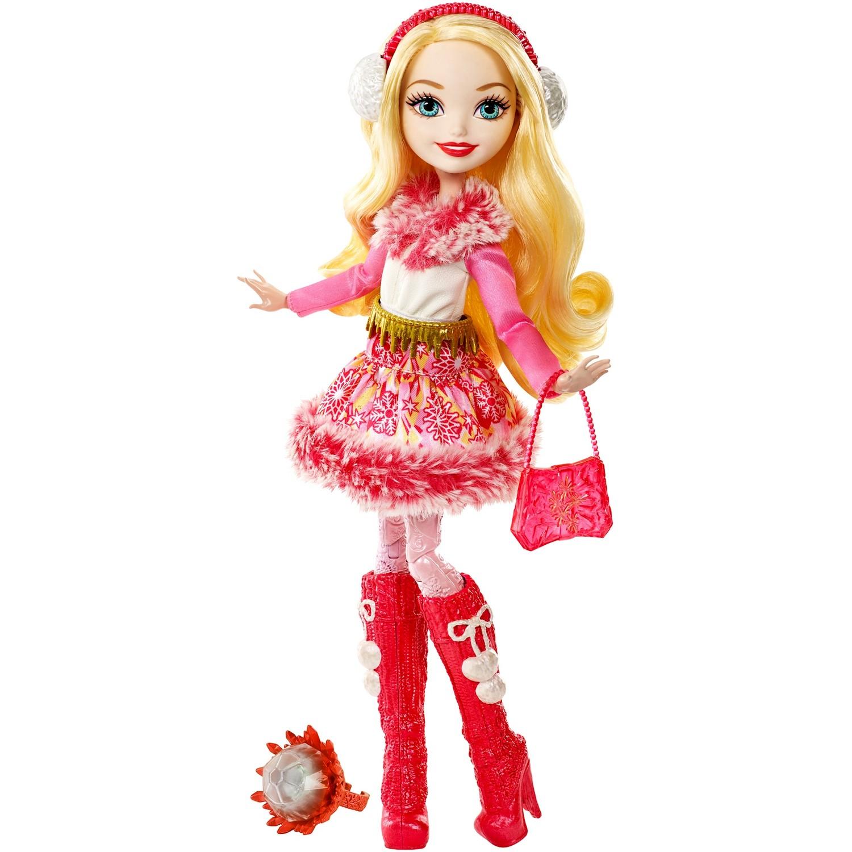 Кукла из серии Ever After High Заколдованная зима - Эппл ВайтКуклы Ever After High и Monster High<br>Кукла из серии Ever After High Заколдованная зима - Эппл Вайт<br>