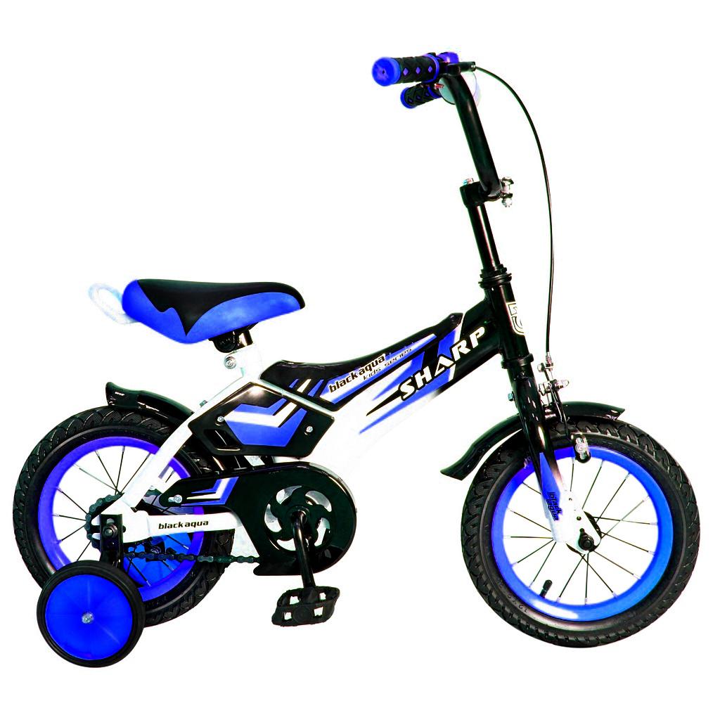 Двухколесный велосипед Sharp, диаметр колес 12 дюймов, синийВелосипеды детские<br>Двухколесный велосипед Sharp, диаметр колес 12 дюймов, синий<br>