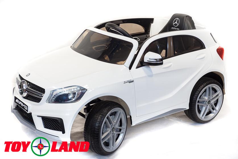 Электромобиль – Mercedes-Benz A45, белый, свет и звукЭлектромобили, детские машины на аккумуляторе<br>Электромобиль – Mercedes-Benz A45, белый, свет и звук<br>