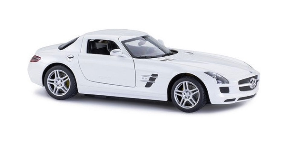 картинка Машина на радиоуправлении Mercedes-Benz SLS AMG, цвет белый, 27MHZ, 1:14 от магазина Bebikam.ru
