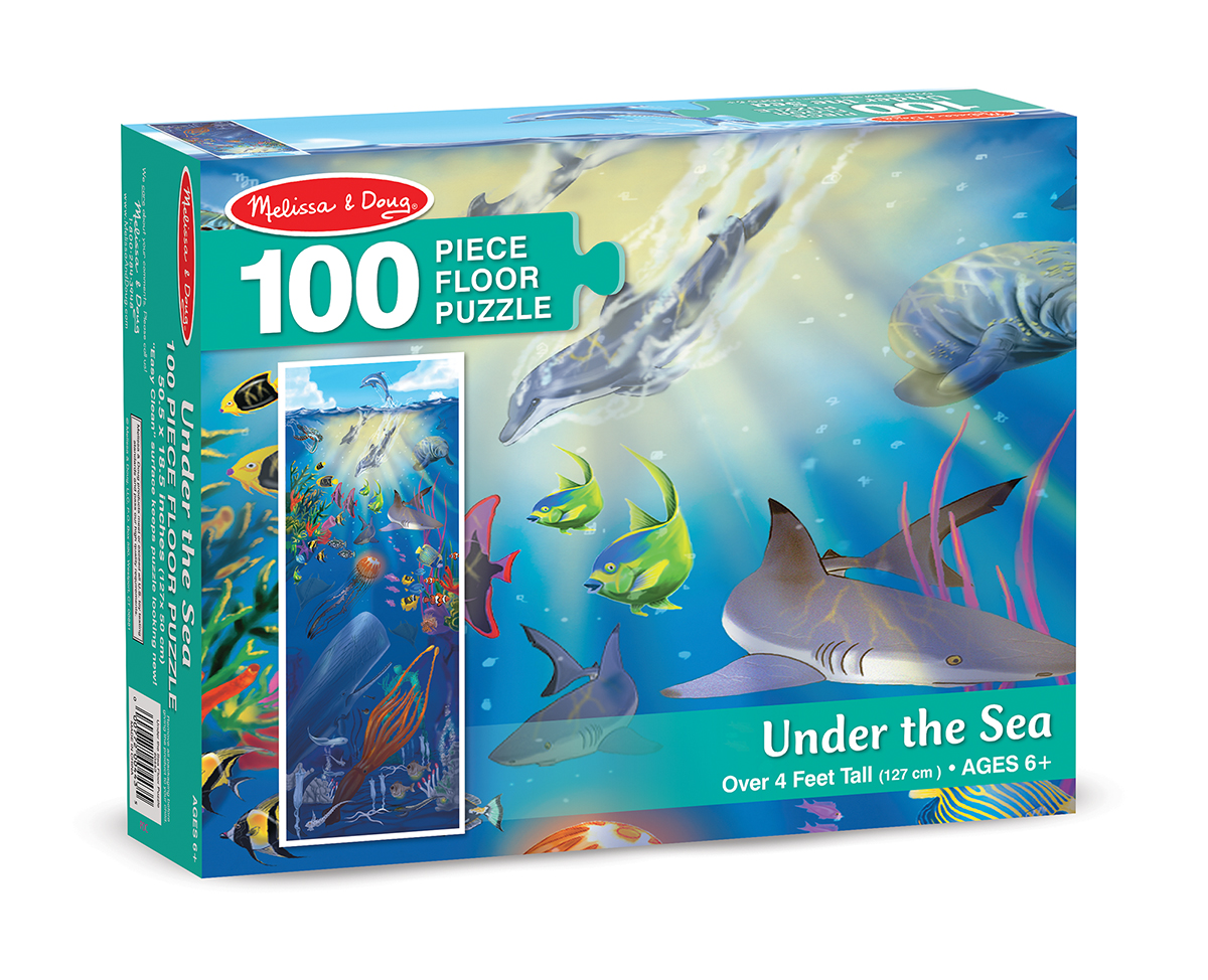 Напольный пазл - Под водой, 100 элементов Melissa&Doug