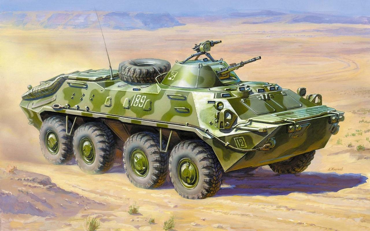 Модель для склеивания - Советский БТР-70. Афганская войнаМодели автомобилей для склеивания<br>Модель для склеивания - Советский БТР-70. Афганская война<br>