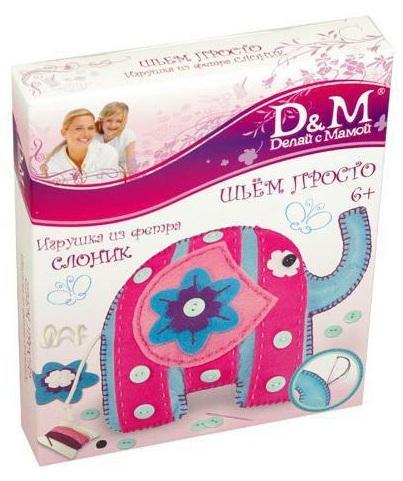 Набор для шитья игрушки - слонСкидки до 70%<br>Набор для шитья игрушки - слон<br>