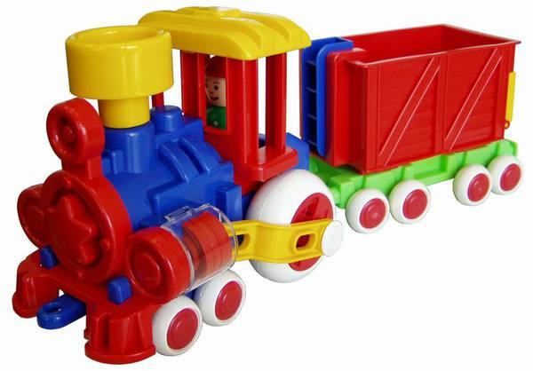 Купить Паровозик из серии Детский сад - Ромашка с вагоном, 39 см, ПК Форма