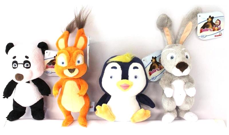 Плюшевая игрушка-погремушка «Маша и Медведь», 4 видаДетские погремушки и подвесные игрушки на кроватку<br>Плюшевая игрушка-погремушка «Маша и Медведь», 4 вида<br>