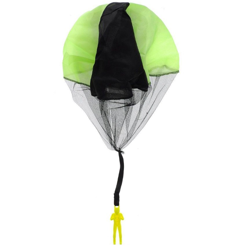 Игрушечный парашют с человеком, зеленый, 15,5 см