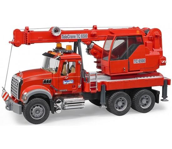 Автокран Bruder Mack с модулем со световыми и звуковыми эффектами, красный от Toyway