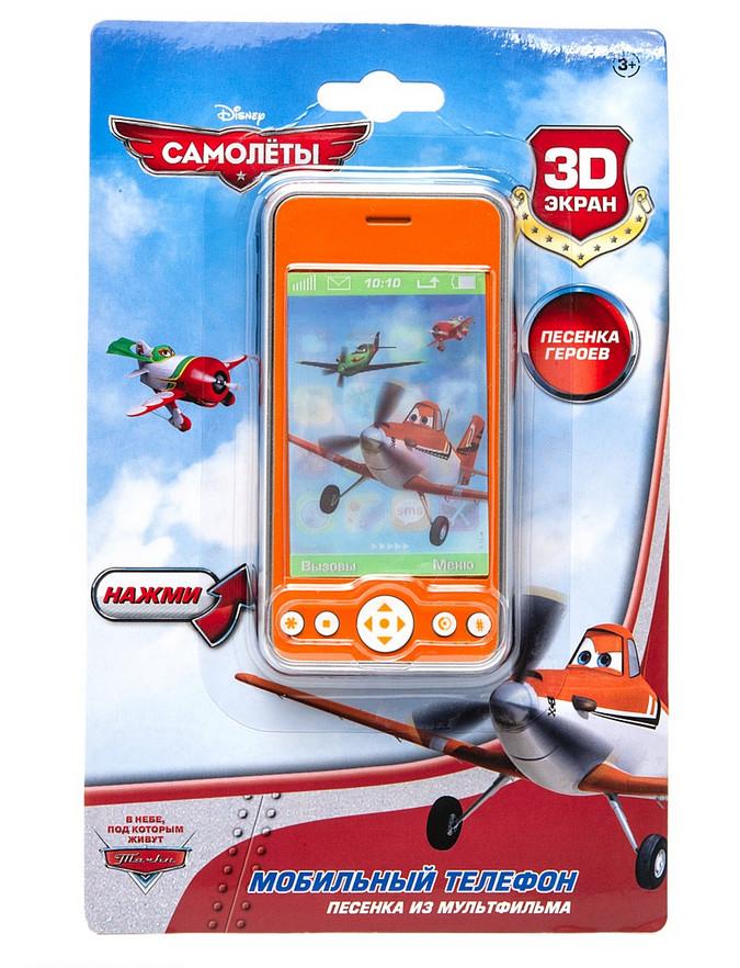 Телефон «Самолеты», 3D экран, звуковые эффекты и песня героевСамолеты Disney (Planes)<br>Телефон «Самолеты», 3D экран, звуковые эффекты и песня героев<br>