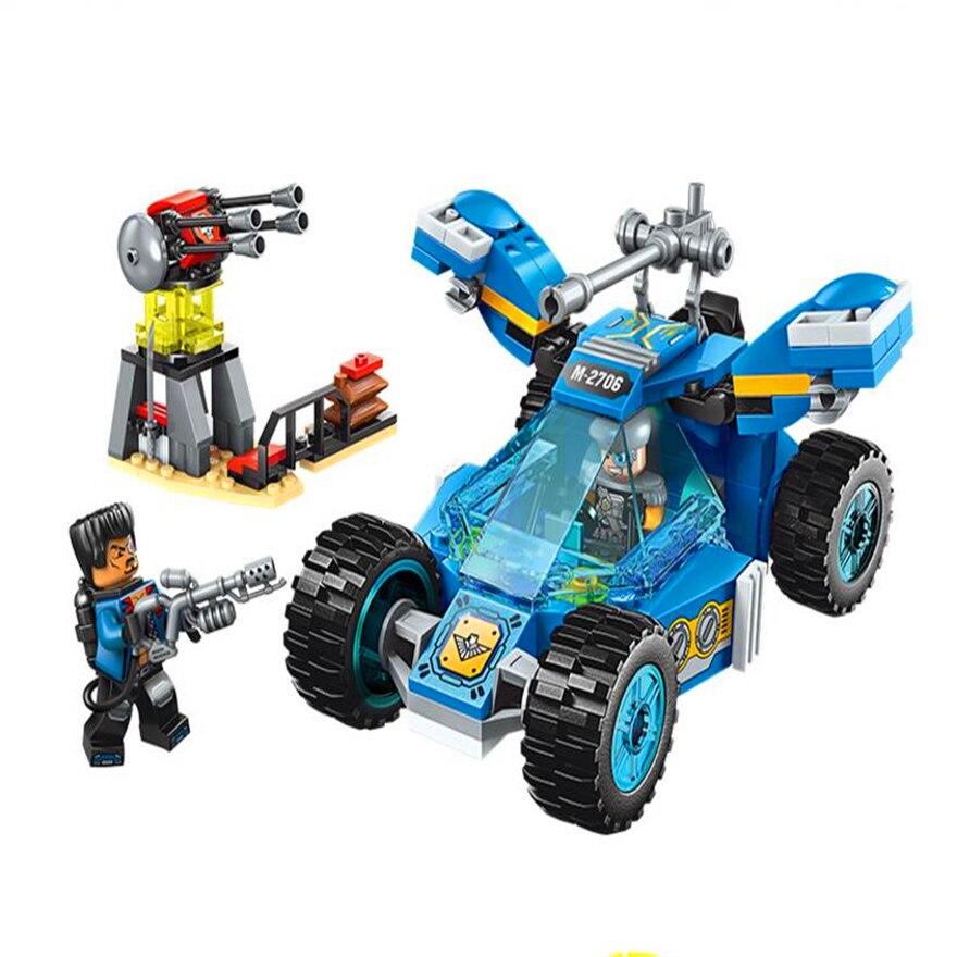 Конструктор – Машина разведчика, установка с фигурками и аксессуарами, 191 деталь по цене 327