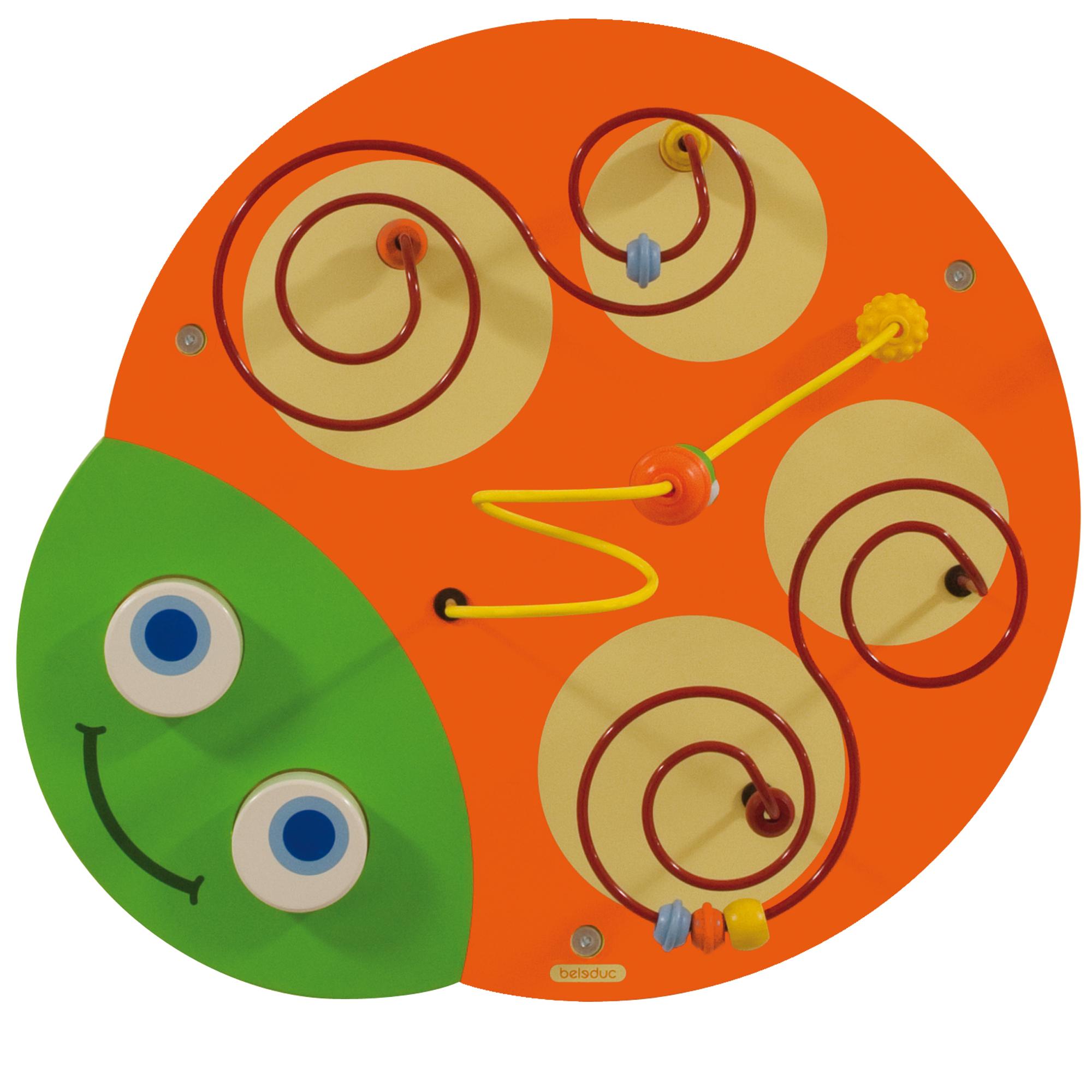 Настенный игровой элемент Гусеница - ГоловаРазвивающие центры<br>Настенный игровой элемент Гусеница - Голова<br>