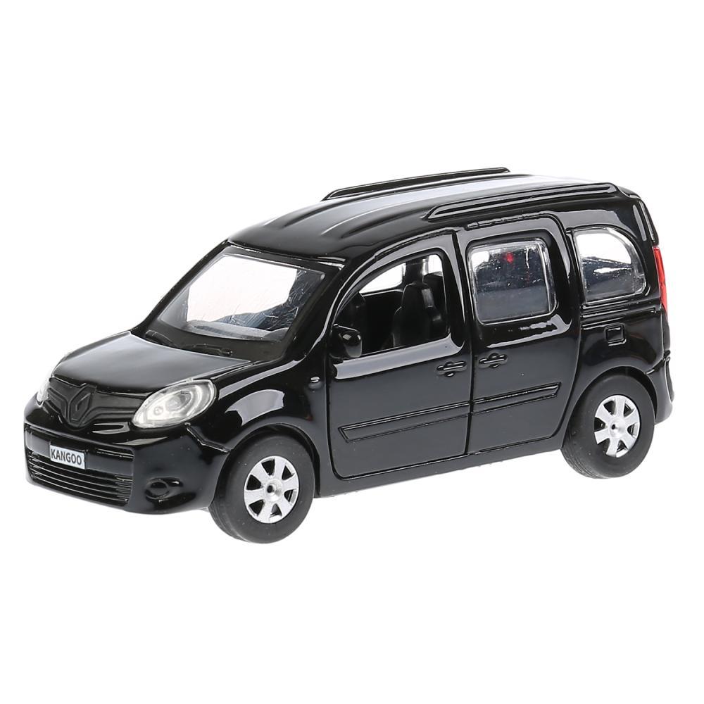Купить Металлическая инерционная машина – Renault Kangoo, 12 см, открывающиеся двери, черный, Технопарк