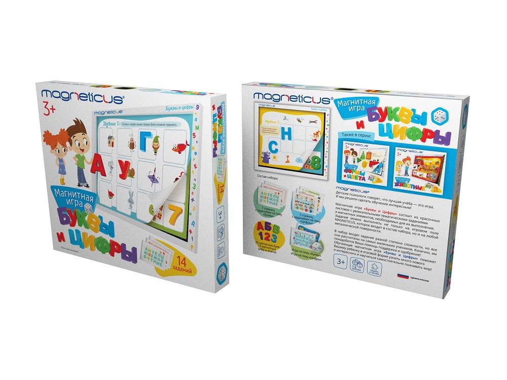 Купить Игровой набор - Буквы и Цифры, в картонной коробке, MAGNETICUS