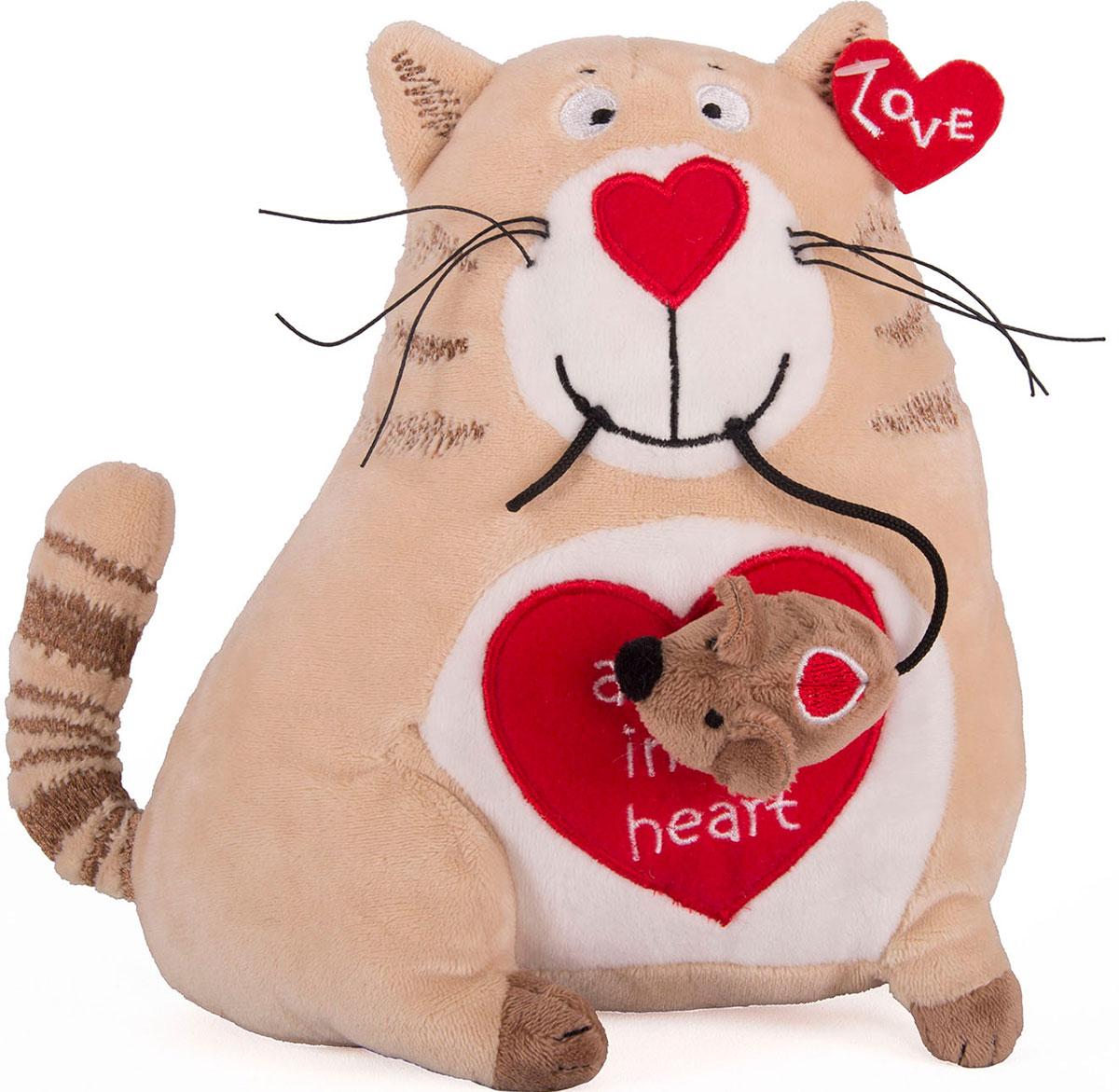 Купить Мягкая игрушка - Кот и мышь Любовь с первого взгляда, 20 см, Gulliver