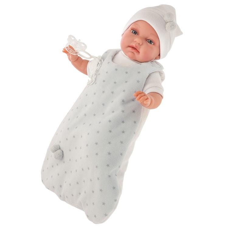 Озвученная кукла Самбор в голубом, 34 смКуклы Антонио Хуан (Antonio Juan Munecas)<br>Озвученная кукла Самбор в голубом, 34 см<br>