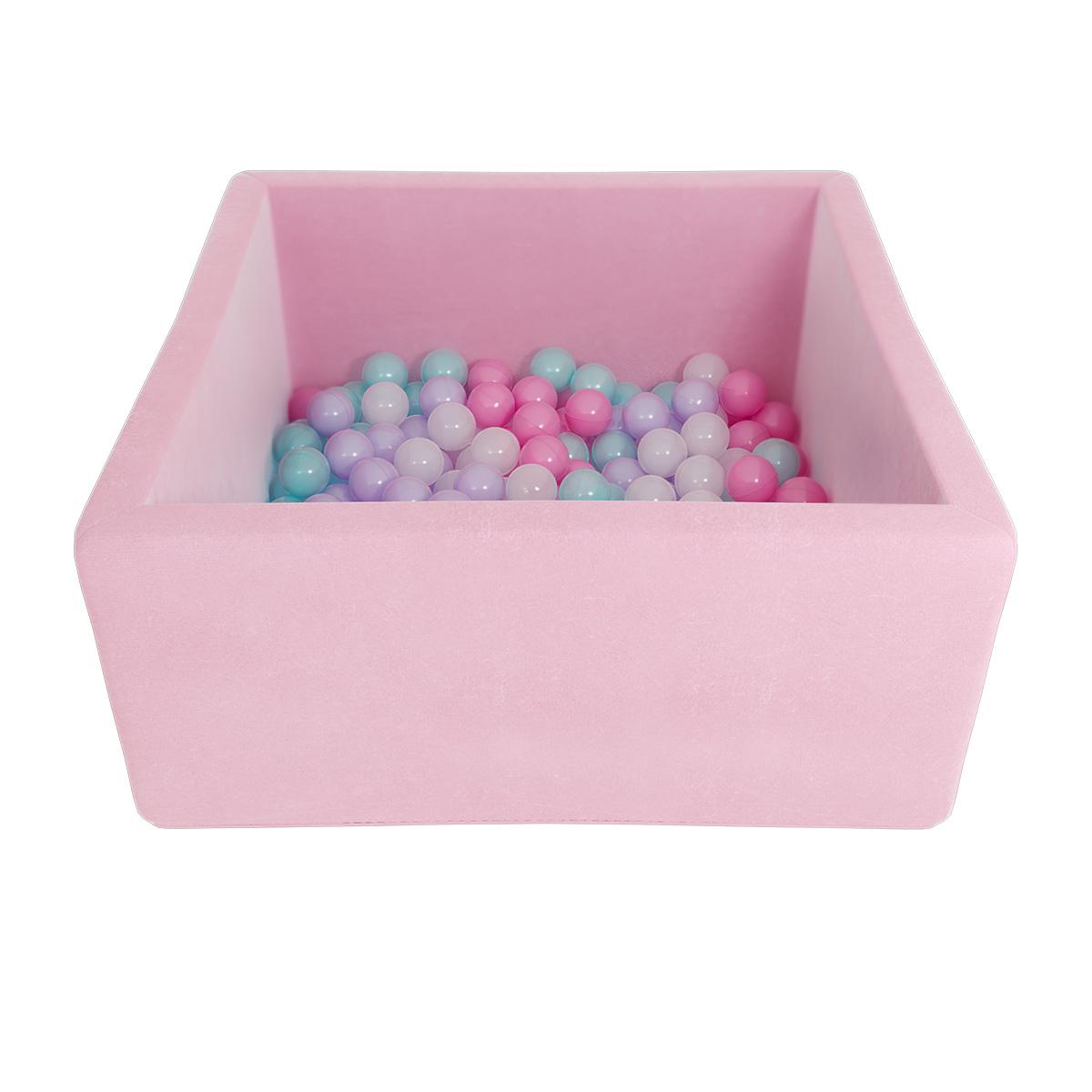Купить Детский сухой бассейн Romana Airpool Box, розовый + 200 шаров, Romana (Романа)