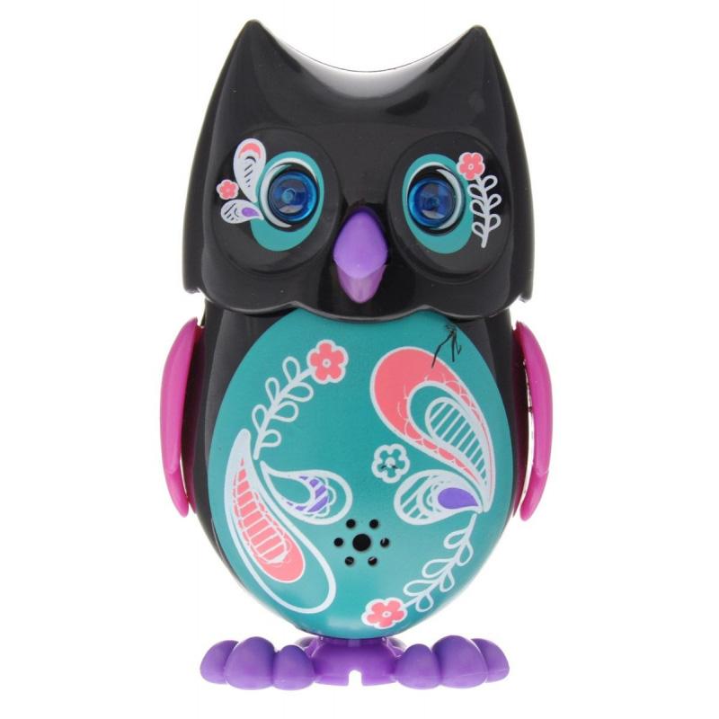 Сова с кольцом, черная с розовыми крыльямиИнтерактивные птички DigiBirds<br>Сова с кольцом, черная с розовыми крыльями<br>