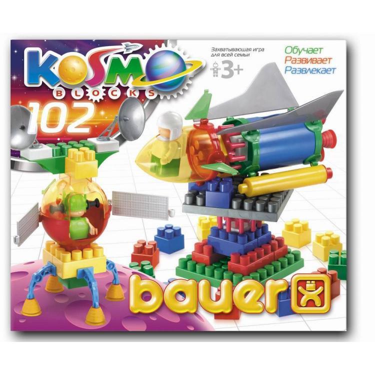 Конструктор серия «Космос», 102 элемента - Конструкторы Bauer Кроха (для малышей), артикул: 127402