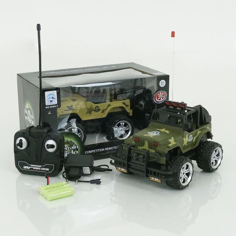 Машина Внедорожник на радиоуправлении, 1:20, зеленыйВоенная техника<br>Машина Внедорожник на радиоуправлении, 1:20, зеленый<br>