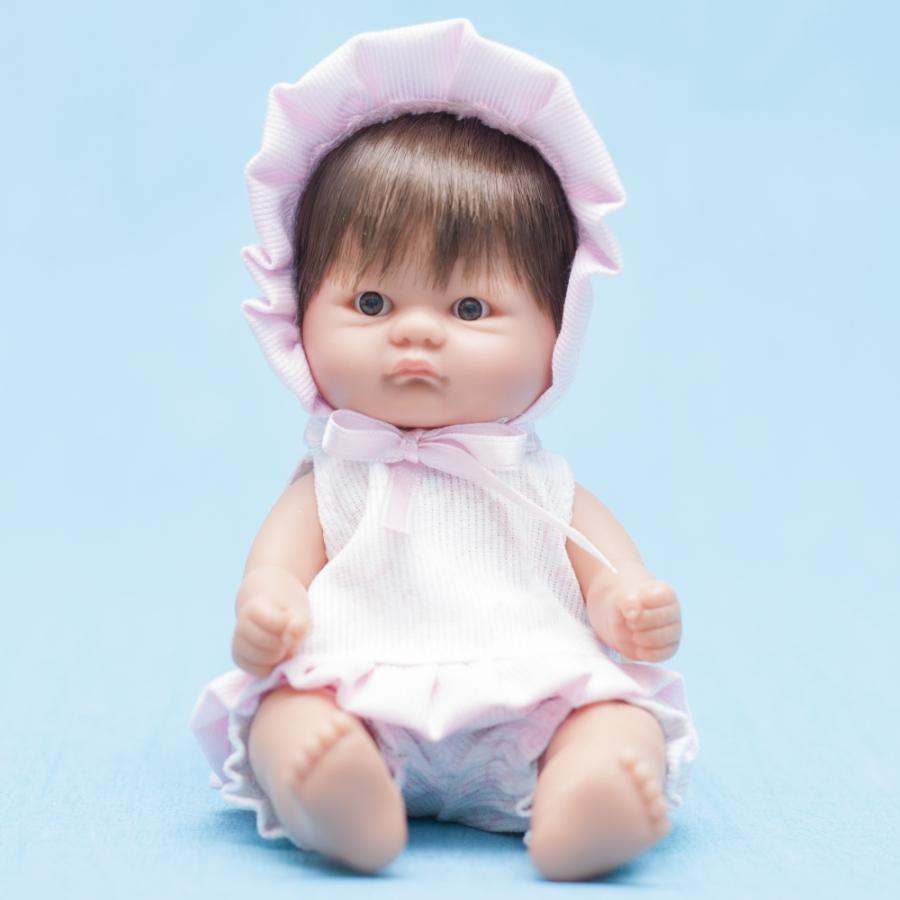 Кукла пупсик в розовом чепчике на завязочках, 20 см.Куклы ASI (Испания)<br>Кукла пупсик в розовом чепчике на завязочках, 20 см.<br>