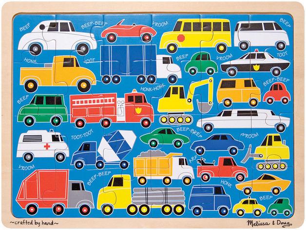 Купить Мои первые пазлы - Транспортные средства, 24 элемента, Melissa&Doug