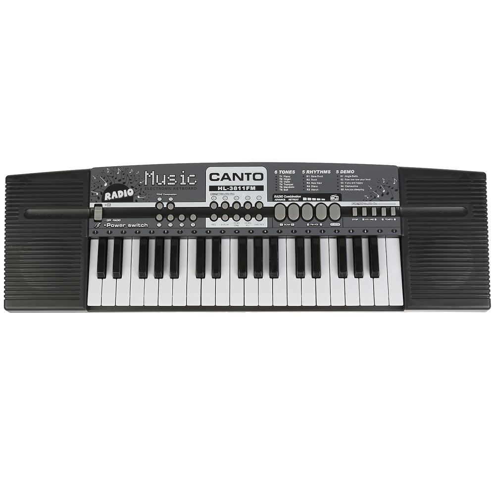 Синтезатор с микрофоном HL-3811FM, 220v/ на батарейках фото