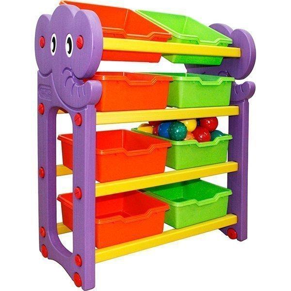Купить Стеллаж для хранения игрушек, 4 секции, Happy Box