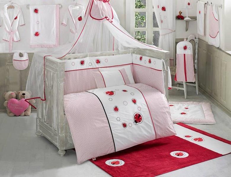 Комплект постельного белья из 6 предметов серии Little LadybugДетское постельное белье<br>Комплект постельного белья из 6 предметов серии Little Ladybug<br>