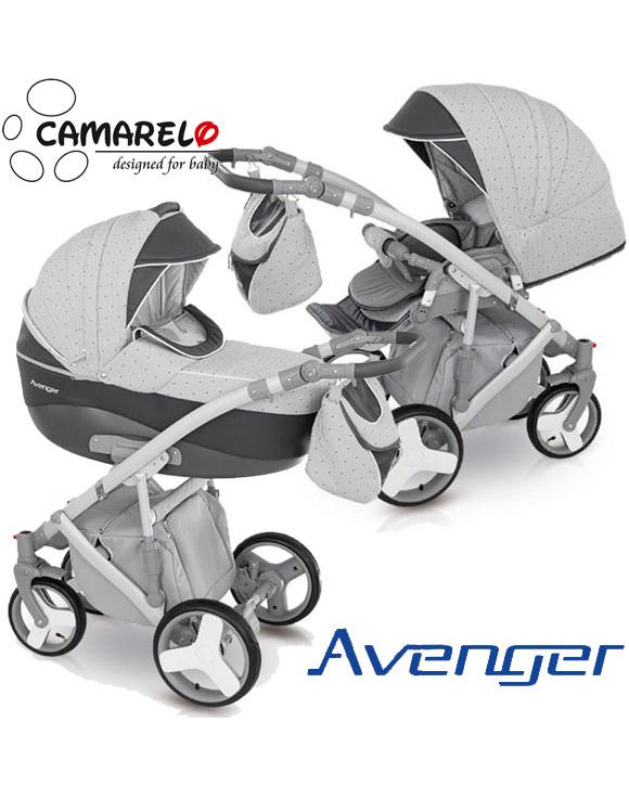 Детская коляска Camarelo Avenger Lux 2 в 1, серая