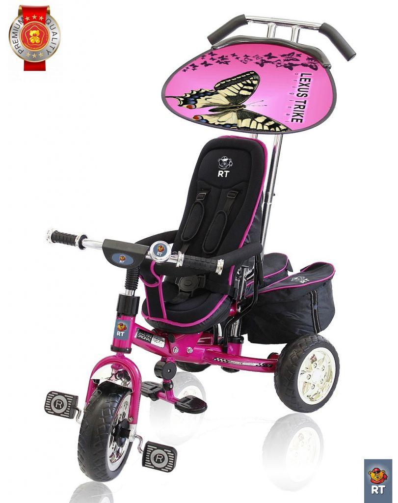 3-х колесный велосипед Lexus Trike original RT Next Deluxe, с высокой спинкой, розовый - Велосипеды детские, артикул: 158659