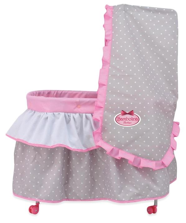 Кровать для куклы Bambolina Boutique с балдахином, одеялом и подушкойДетские кроватки для кукол<br>Кровать для куклы Bambolina Boutique с балдахином, одеялом и подушкой<br>