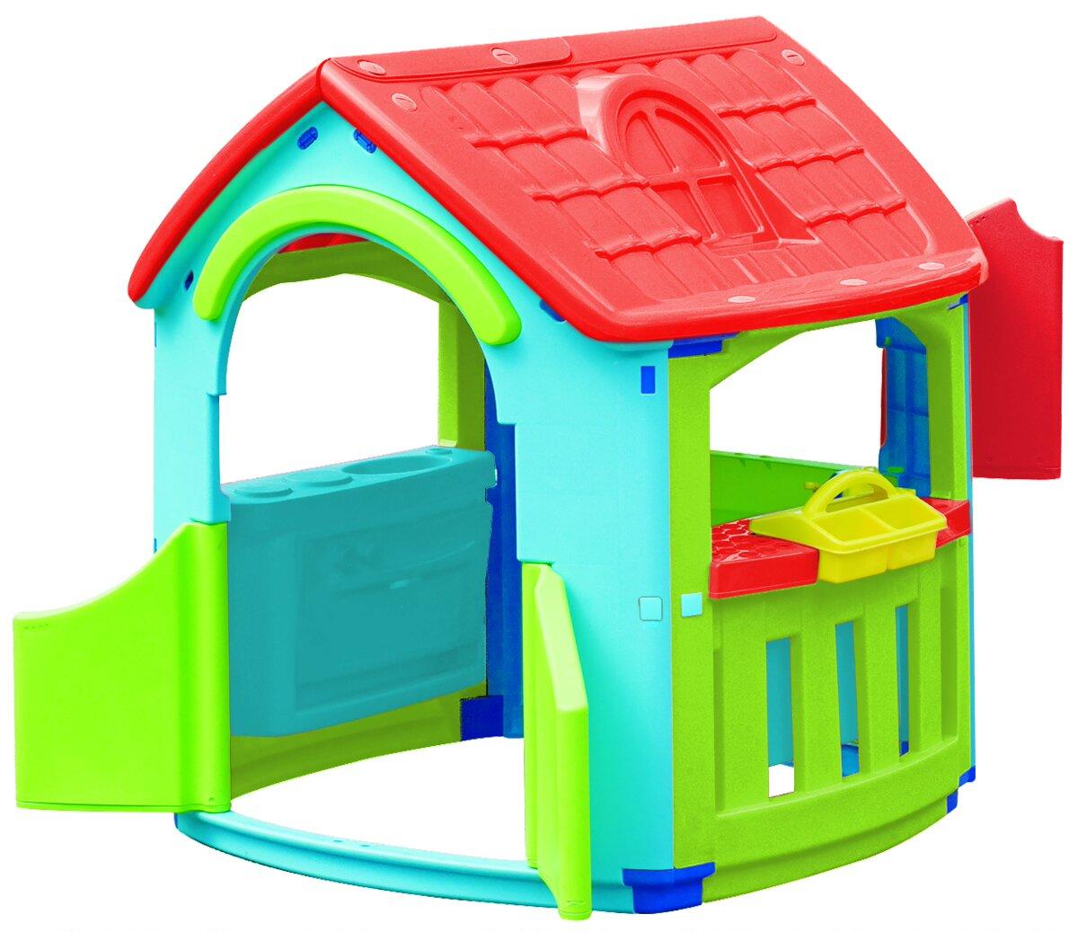 Домик – гараж с кухнейПластиковые домики для дачи<br>Домик – гараж с кухней<br>