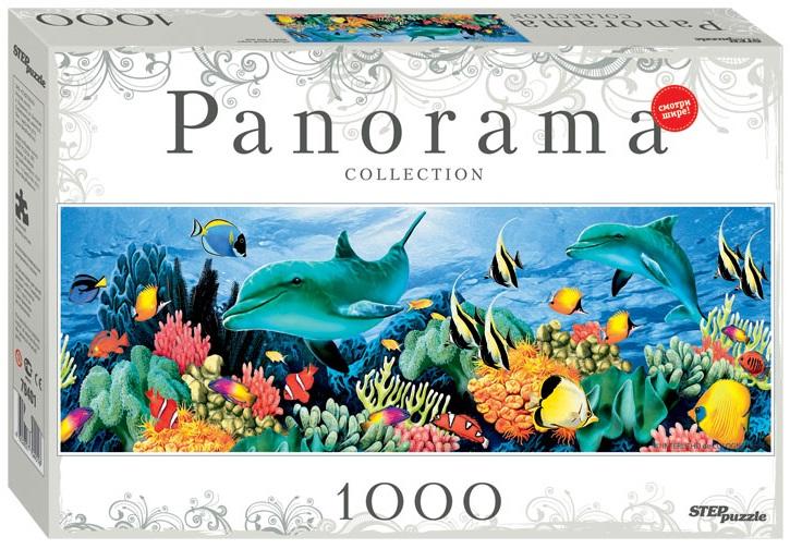 Пазл Panorama Подводный мир. Дельфины. 1000 элементовПазлы 1000 элементов<br>Пазл Panorama Подводный мир. Дельфины. 1000 элементов<br>