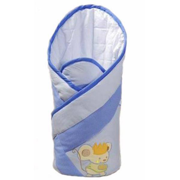 Конверт Layette Romeo с карманом для матрасика, голубойДетские покрывала и пледы<br>Конверт Layette Romeo с карманом для матрасика, голубой<br>