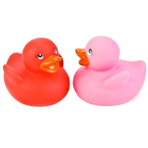 Набор из 2 игрушек для купания – Уточки-термо, розовая и красная