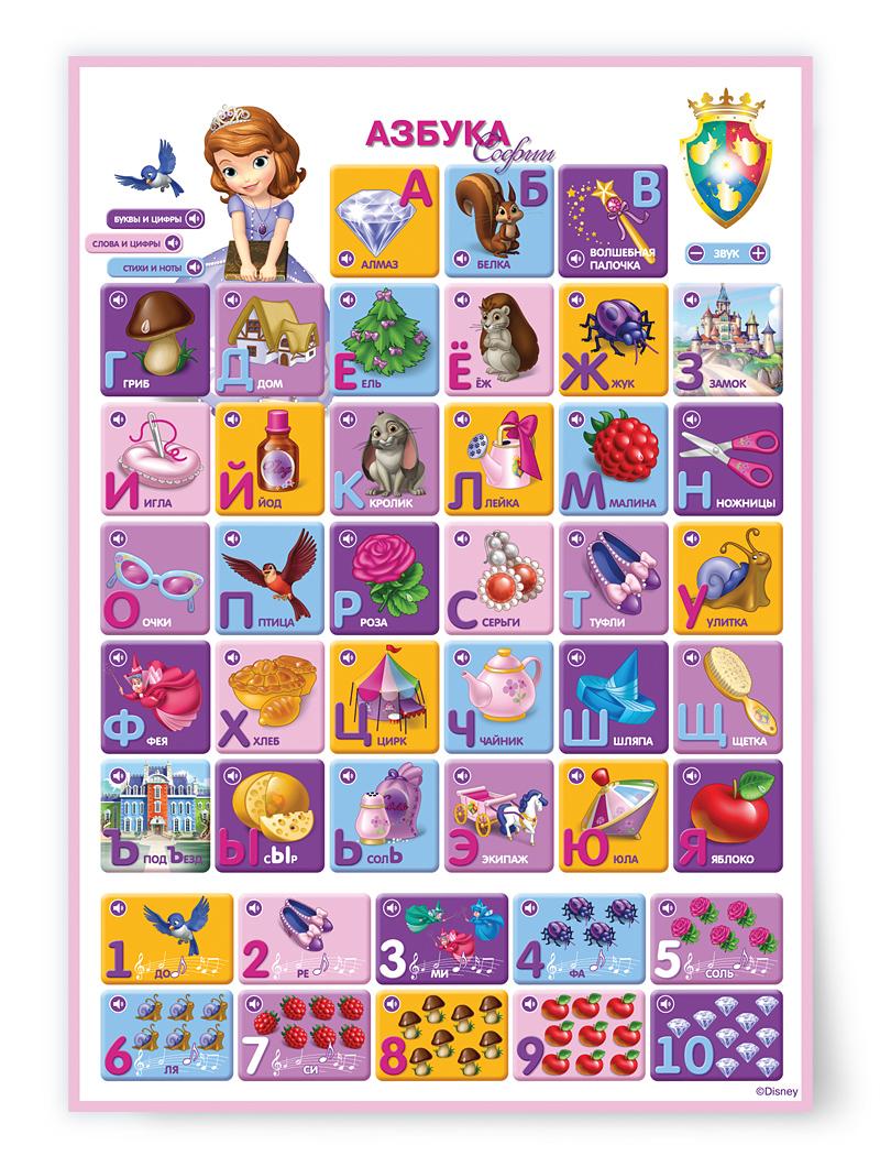 Говорящий плакат «Азбука Софии» - Говорящие плакаты, артикул: 136694