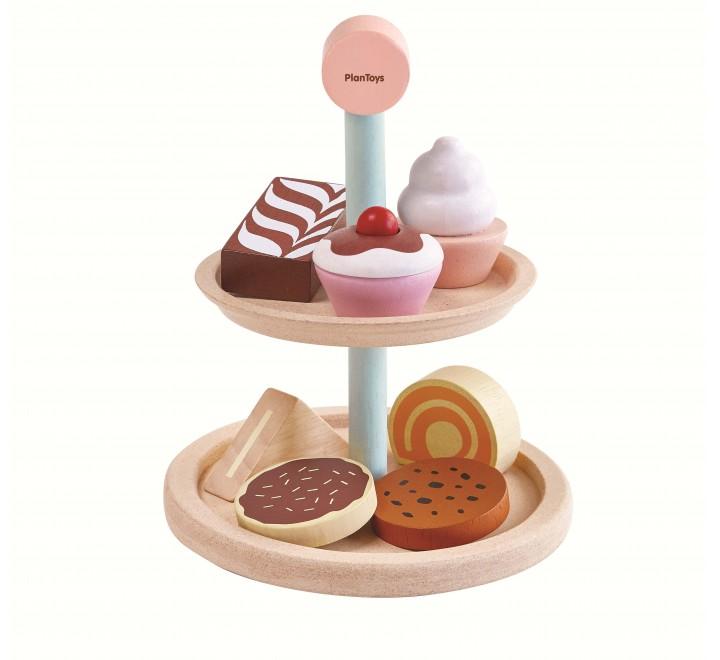 Купить Игровой набор деревянный – Пирожные, Plan Toys