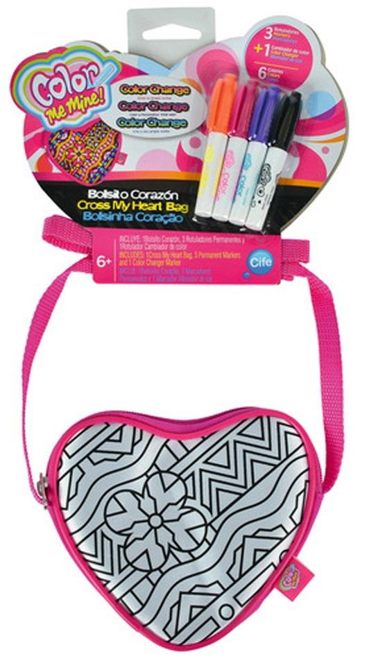Сумочка-сердечко для раскрашиванияСумки и  рюкзачки Simba Color Me mine<br>Сумочка-сердечко для раскрашивания<br>