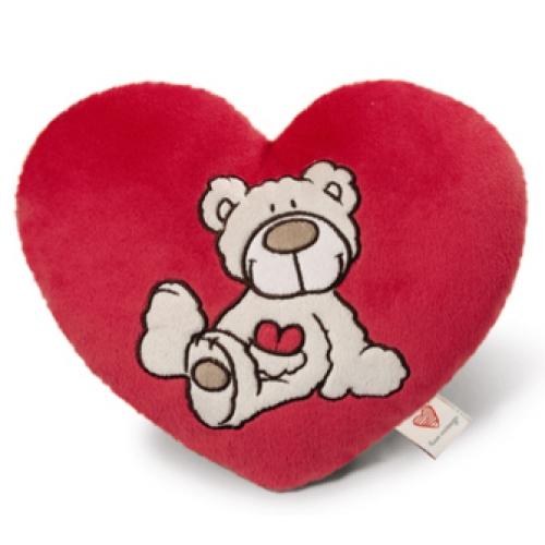 """Nici Подушка-сердце """"Медвежонок, кремовый"""", 25 см"""