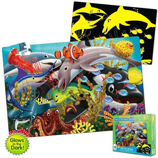 Пазл «Подводный мир», светится в темнотеПазлы для малышей<br>Пазл «Подводный мир», светится в темноте<br>