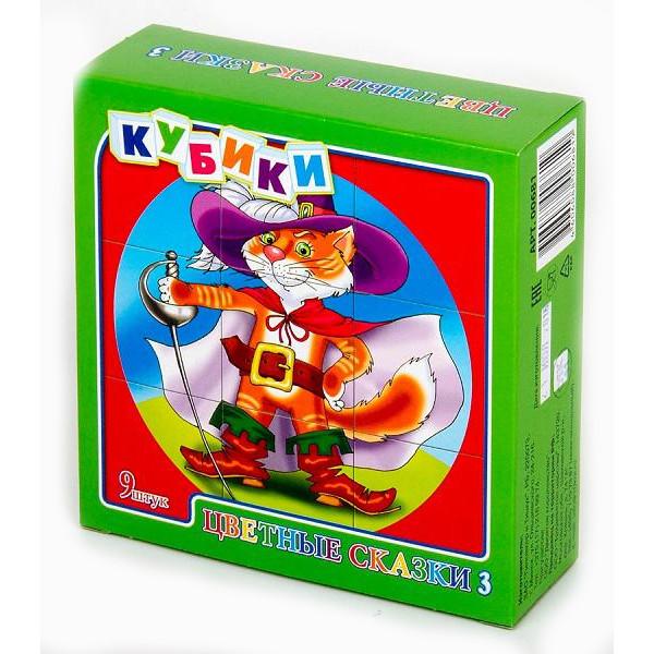 Кубики – Цветные сказки-3, 9 штукКубики<br>Кубики – Цветные сказки-3, 9 штук<br>